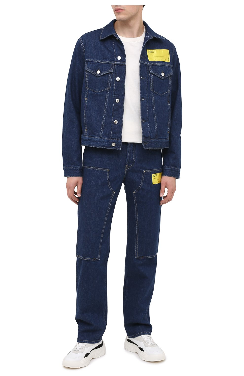 Мужские джинсы HELMUT LANG темно-синего цвета, арт. K04DM201 | Фото 2