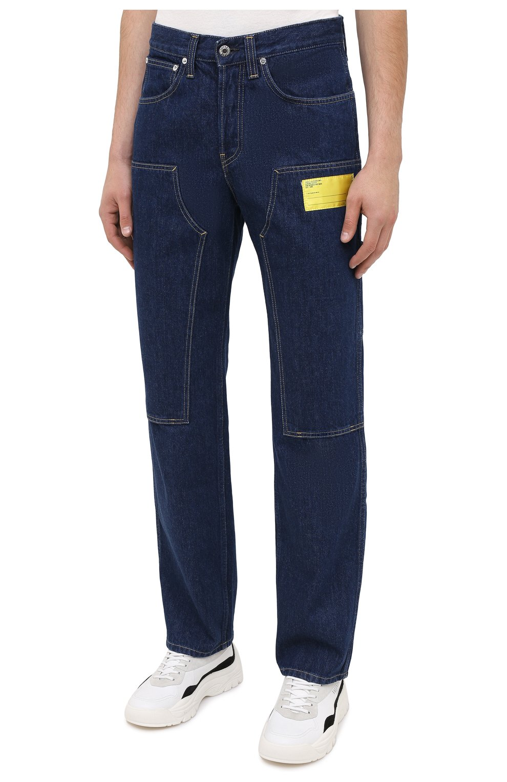 Мужские джинсы HELMUT LANG темно-синего цвета, арт. K04DM201 | Фото 3