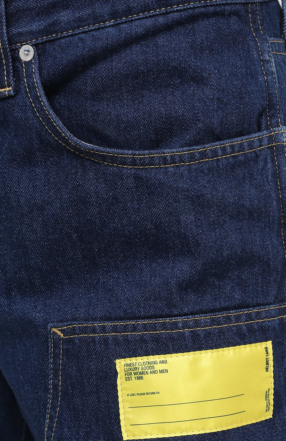Мужские джинсы HELMUT LANG темно-синего цвета, арт. K04DM201 | Фото 5