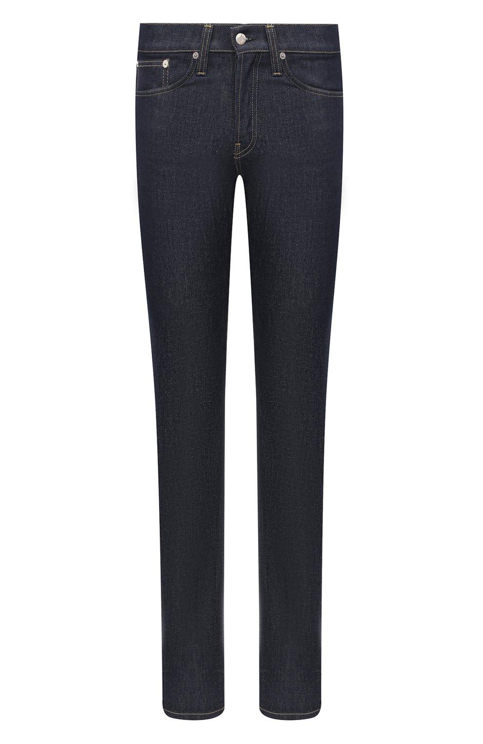 Мужские джинсы HELMUT LANG темно-синего цвета, арт. K04DM208 | Фото 1