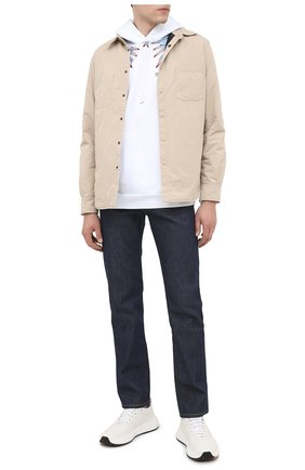 Мужские джинсы HELMUT LANG темно-синего цвета, арт. K04DM208 | Фото 2