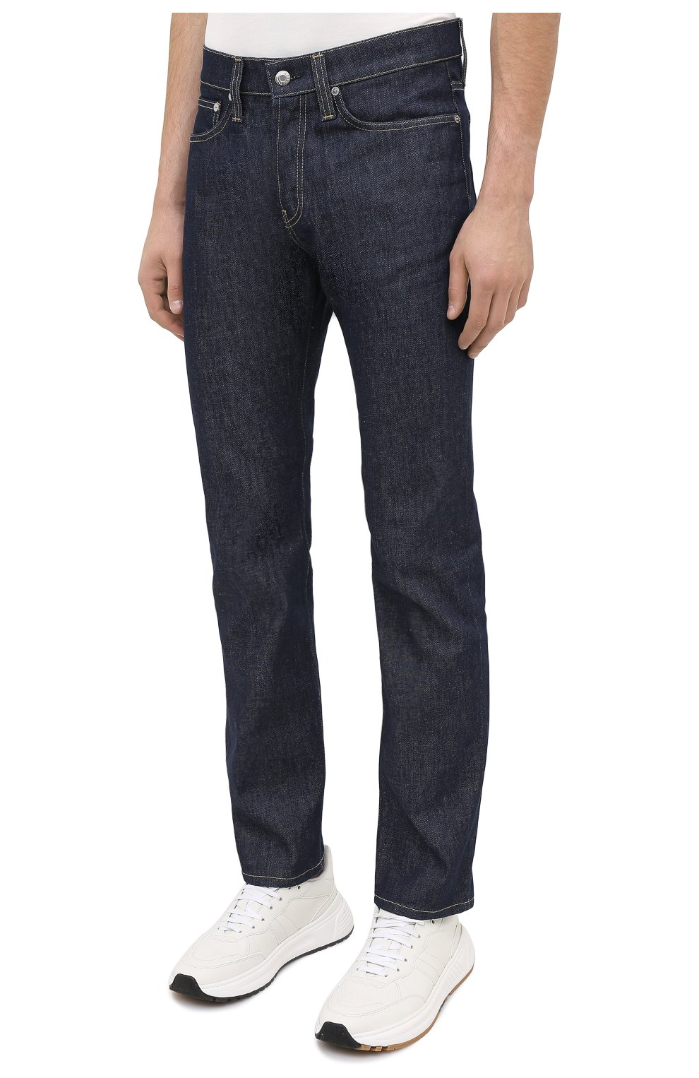 Мужские джинсы HELMUT LANG темно-синего цвета, арт. K04DM208 | Фото 3