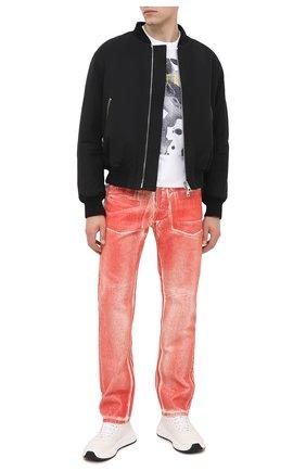 Мужские джинсы HELMUT LANG красного цвета, арт. K05DM202 | Фото 2