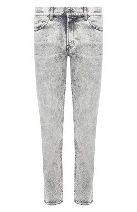 Мужские джинсы 7 FOR ALL MANKIND светло-серого цвета, арт. JSD4R780MG | Фото 1