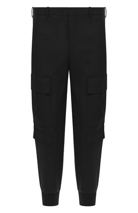 Мужской брюки-карго NEIL BARRETT черного цвета, арт. PBPA743/P026 | Фото 1