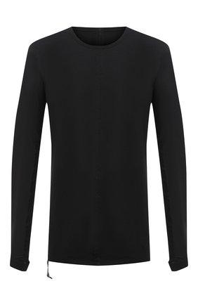 Мужская хлопковый лонгслив ISAAC SELLAM черного цвета, арт. ARRETE-JERSEY H21 | Фото 1