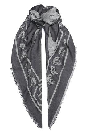 Мужской шарф PHILIPP PLEIN серого цвета, арт. F20A MAA0279 PTE101N | Фото 1