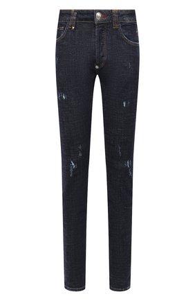 Мужские джинсы PHILIPP PLEIN темно-синего цвета, арт. F20C MDT2237 PDE004N | Фото 1