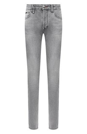 Мужские джинсы PHILIPP PLEIN светло-серого цвета, арт. F20C MDT2284 PDE004N | Фото 1