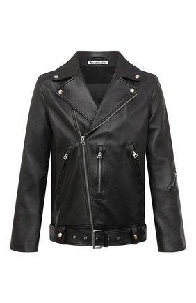 Мужская кожаная куртка ACNE STUDIOS черного цвета, арт. B70075 | Фото 1