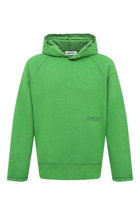 Мужской хлопковое худи AMBUSH зеленого цвета, арт. BMBB001F20FLE001 | Фото 1