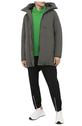 Мужской хлопковое худи AMBUSH зеленого цвета, арт. BMBB001F20FLE001 | Фото 2