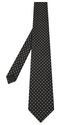 Мужской шелковый галстук TOM FORD черного цвета, арт. 8TF09/XTF   Фото 2