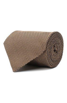 Мужской шелковый галстук TOM FORD бежевого цвета, арт. 8TF06/XTF | Фото 1