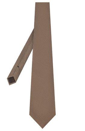 Мужской шелковый галстук TOM FORD бежевого цвета, арт. 8TF06/XTF | Фото 2