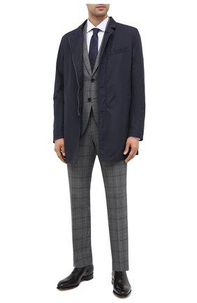 Мужской шерстяной костюм BOSS серого цвета, арт. 50438509 | Фото 1