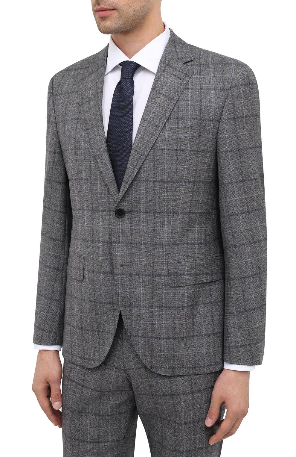 Мужской шерстяной костюм BOSS серого цвета, арт. 50438509 | Фото 2