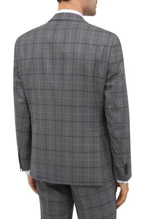 Мужской шерстяной костюм BOSS серого цвета, арт. 50438509 | Фото 3