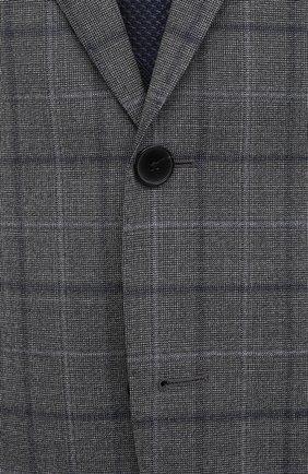Мужской шерстяной костюм BOSS серого цвета, арт. 50438509 | Фото 6