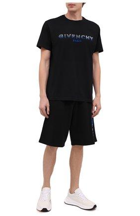 Мужская хлопковая футболка GIVENCHY черного цвета, арт. BM70UY3002 | Фото 2