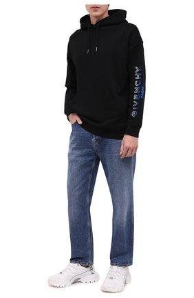 Мужской хлопковое худи GIVENCHY черного цвета, арт. BMJ05V30AF | Фото 2