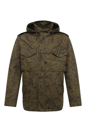 Мужская хлопковая куртка GIVENCHY хаки цвета, арт. BM00GG133A | Фото 1