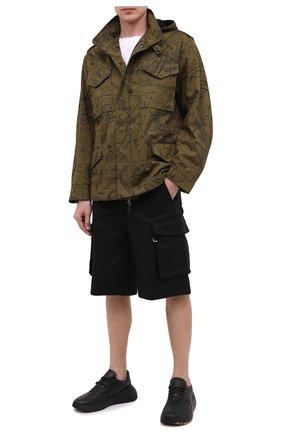 Мужская хлопковая куртка GIVENCHY хаки цвета, арт. BM00GG133A | Фото 2