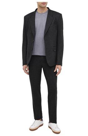 Мужской шерстяные брюки GIVENCHY серого цвета, арт. BM50KQ30HT | Фото 2