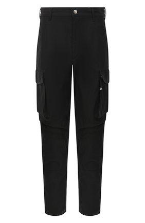 Мужской хлопковые брюки-карго GIVENCHY черного цвета, арт. BM50L911YS | Фото 1