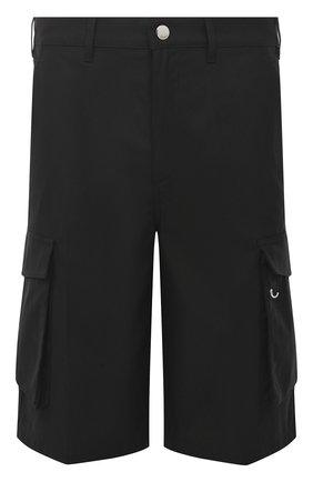 Мужские хлопковые шорты GIVENCHY черного цвета, арт. BM50ML11YS | Фото 1