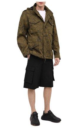Мужские хлопковые шорты GIVENCHY черного цвета, арт. BM50ML11YS | Фото 2