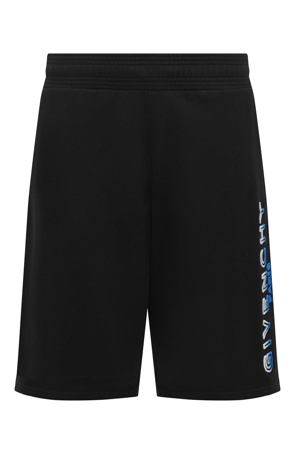 Мужские хлопковые шорты GIVENCHY черного цвета, арт. BM50MT30AF | Фото 1