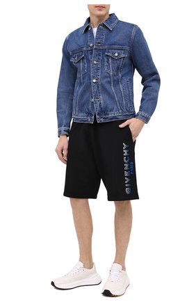 Мужские хлопковые шорты GIVENCHY черного цвета, арт. BM50MT30AF | Фото 3