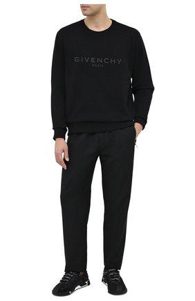 Мужской шерстяные брюки GIVENCHY черного цвета, арт. BM50N61Y8K | Фото 2