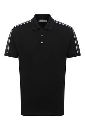Мужское хлопковое поло  GIVENCHY черного цвета, арт. BM70UA3006 | Фото 1