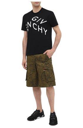Мужская хлопковая футболка GIVENCHY черного цвета, арт. BM70YC3002 | Фото 2