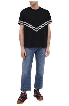 Мужская хлопковая футболка GIVENCHY черного цвета, арт. BM70YS3002 | Фото 2