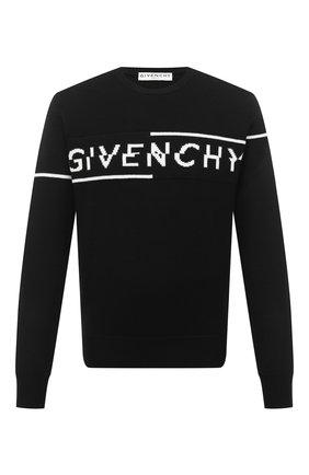 Мужской шерстяной свитер GIVENCHY черного цвета, арт. BM90B44Y5D | Фото 1