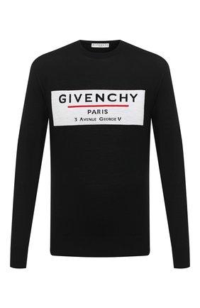 Мужской шерстяной джемпер GIVENCHY черного цвета, арт. BM90BT406B | Фото 1