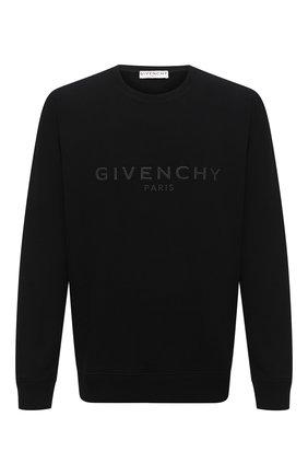 Мужской хлопковый свитшот GIVENCHY черного цвета, арт. BMJ07Z30AF | Фото 1