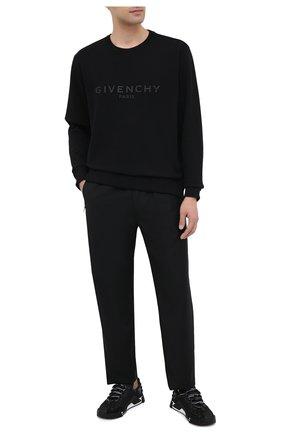 Мужской хлопковый свитшот GIVENCHY черного цвета, арт. BMJ07Z30AF | Фото 2