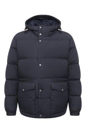 Мужская пуховая куртка BOSS темно-синего цвета, арт. 50436506   Фото 1