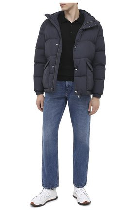 Мужская пуховая куртка BOSS темно-синего цвета, арт. 50436506   Фото 2