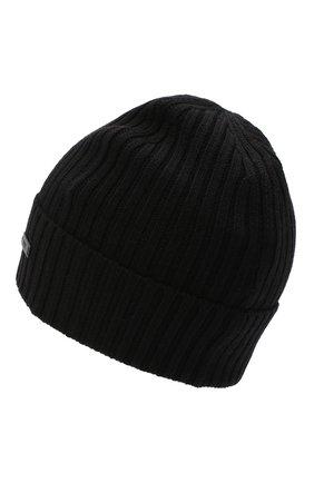 Мужская шерстяная шапка BOSS черного цвета, арт. 50435354 | Фото 2