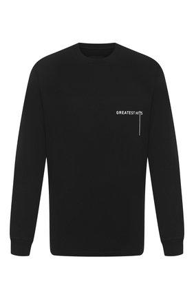 Мужская хлопковый лонгслив RTA черного цвета, арт. MF094-49BLK1 | Фото 1