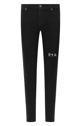 Мужские джинсы RTA черного цвета, арт. MF0AC-0134AMBK | Фото 1