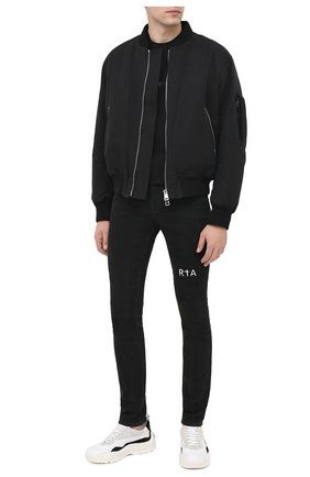 Мужские джинсы RTA черного цвета, арт. MF0AC-0134AMBK | Фото 2