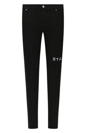 Мужские джинсы RTA черного цвета, арт. MF0AC-0134BLK | Фото 1