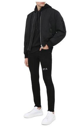 Мужские джинсы RTA черного цвета, арт. MF0AC-0134BLK | Фото 2