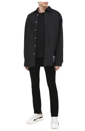 Мужские джинсы RTA черного цвета, арт. MF0AC-1060RINSE | Фото 2